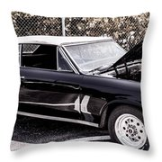 Ragtop In Black Throw Pillow