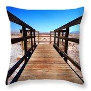 Rail Path Throw Pillow