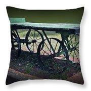 Rail Road Wagon Throw Pillow