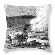 Railroad Accident, 1853 Throw Pillow