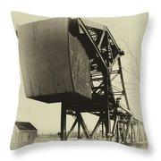 Railroad Bridge 10615a Throw Pillow