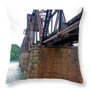 Railroad Bridge 2 Throw Pillow