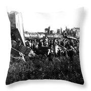 Railroad Collision Throw Pillow