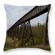 Railroad High Bridge 3 Throw Pillow