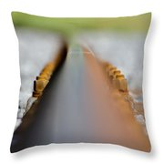 Railroad Tracks Throw Pillow