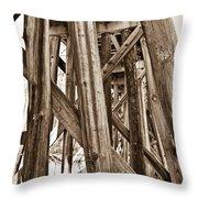 Railroad Trussel Throw Pillow