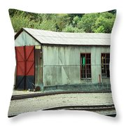 Railroad Woodshed 2 Throw Pillow