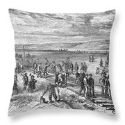Railroading: U.s.a Throw Pillow