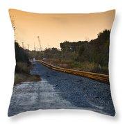 Railway Into Town Throw Pillow