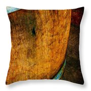 Rain Barrel Throw Pillow