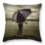 Rain Day 2 Throw Pillow by Heather  Rivet