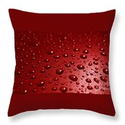 Rain Drops Bloody Red  Throw Pillow