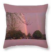 Rainbow 5 Throw Pillow