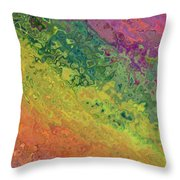 Rainbow Abstract Throw Pillow