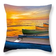 Rainbow Armada Throw Pillow