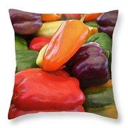 Rainbow Bells Throw Pillow by Susan Herber