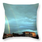 Rainbow Calabrese Throw Pillow