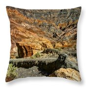 Rainbow Canyon Death Valley Throw Pillow