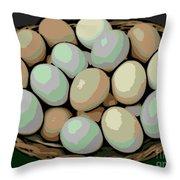 Rainbow Eggs Throw Pillow