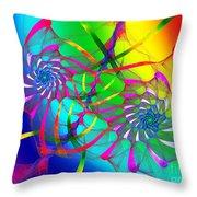 Rainbow Eyes Throw Pillow