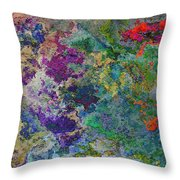 Rainbow Fish Watercolor Abstract Art Throw Pillow