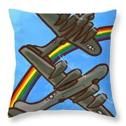 Rainbow Flight Throw Pillow