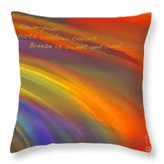 Rainbow Haiku Throw Pillow