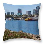 Rainbow Harbor Throw Pillow