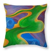 Rainbow Healing For Family Throw Pillow