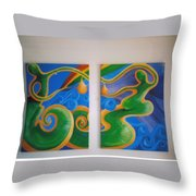 Rainbow Healing For The Family Throw Pillow