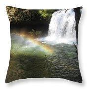 Rainbow Mist 2 Throw Pillow