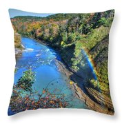 Rainbow On A Beautiful Oct Day Throw Pillow