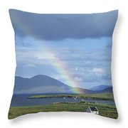 Rainbow Over Mountains, Ballinskelligs Throw Pillow