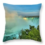 Rainbow Over Niagara Throw Pillow