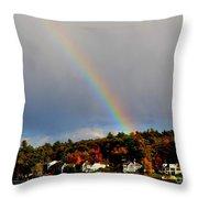 Rainbow Over Winnepesaukee Throw Pillow