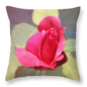 Rainbow Rose Throw Pillow