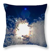 Rainbow Round The Sun II Throw Pillow