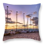 Rainbow Skies Throw Pillow