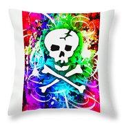 Rainbow Skull 3 Of 6 Throw Pillow