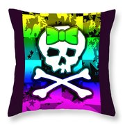 Rainbow Skull 4 Of 6 Throw Pillow