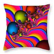 Rainbow Universe Throw Pillow