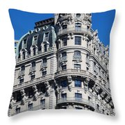 Rainbows And Architecture Throw Pillow