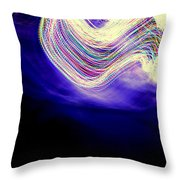 Rainbows Collide Throw Pillow