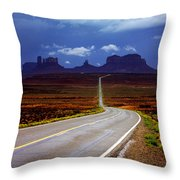 Rainclouds Over Monument Valley Throw Pillow