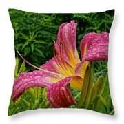 Raindrops On Lilly Throw Pillow