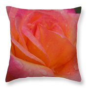 Raindrops On Roses Nine Throw Pillow