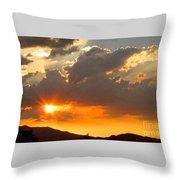 Rainey Sunset Throw Pillow