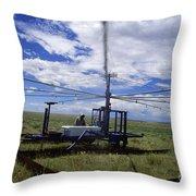 Rainfall Simulator Throw Pillow