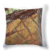 Rainforest Green Marble Throw Pillow