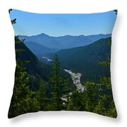 Rainier Valley Throw Pillow